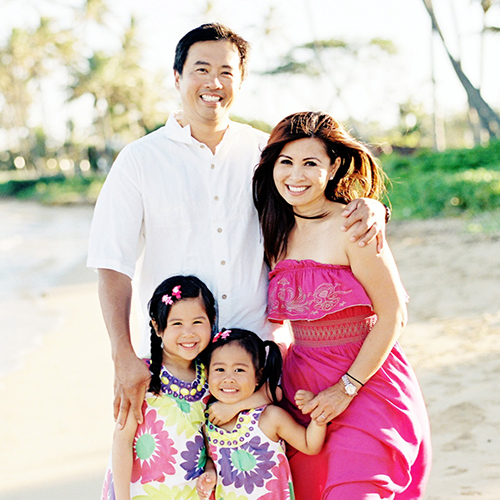 Kalika Yap with Family
